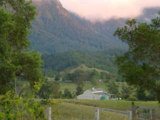 Border Ranges to the West - our barn