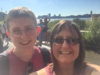 NYC Highline Park with my oldest who lives in Manhattan. We really do love NY!