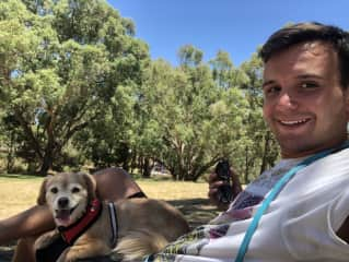 Indie and me at the park. Perth Werstern Australia
