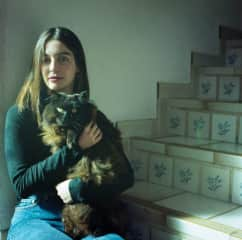 Analog Photography - A shot I took of my friend and her cat in Spain last Winter