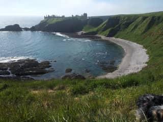Nearby Dunnotar castle