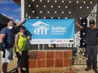 Volunteering through Habitat For Humanity
