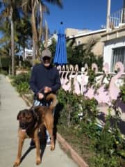 Joe and Dexter in Venice Beach Canal area
