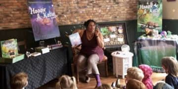 Reading my second children's book at my book signing
