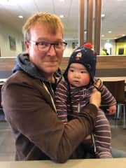 Our son and grandson in Australia.