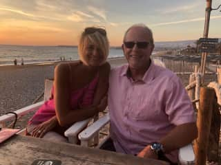 Louise and Shaun enjoying time at the beach
