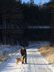A cold walk with Bertie in Aberdeenshire