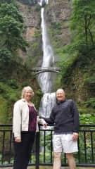 Bob & Deb Nutting enjoying waterfalls in OR.