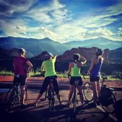 Biking with friends in Colorado Springs, CO