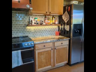 kitchen, west wall