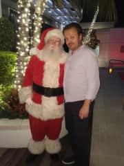 Me Anthony and Santa