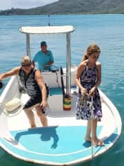 getting around at home in Guanaja