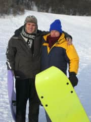 My brother David and me in Edmonton, Alberta