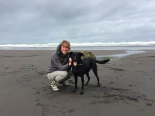 Me and my dog, Kui, in New Zealand (2017)