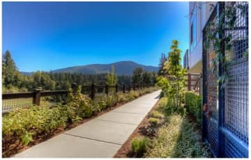 Trail on property with views of Cascade Mountain foothills