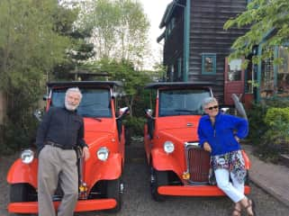 With our electric roadsters when we had an historic tour company, PTeRider