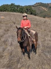 horseback riding every chance I get