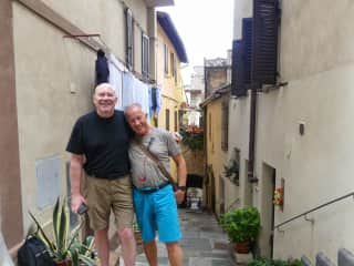 Dave and Bill in Assisi, Italy
