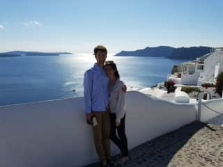 Zach and I on our honeymoon in Greece