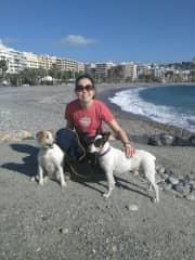 Siri and Freja in Almunecar, Spain