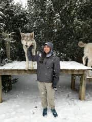 Me at a Howling Woods Wolf Sanctuary in NJ!