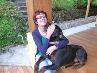 Katrien with Yunan, 4 years ago