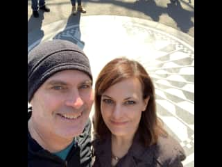 At John Lennon's Strawberry Fields memorial in Central Park, New York City, March 2020.