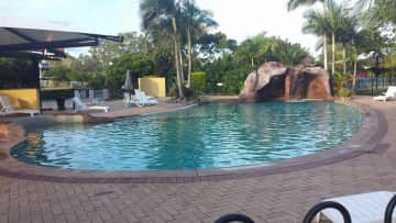 Shared pool in resort