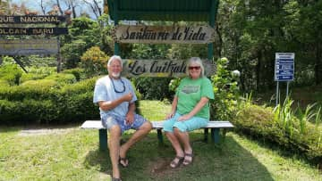 Resting after a hike in Panama!