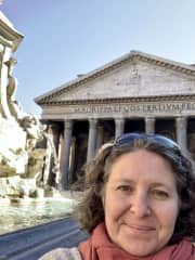 In front of the Pantheon on a recent trip to Rome