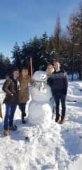 You are never too old to make a snowman!