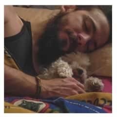 Leo and Mora sleeping