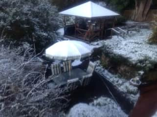Our BBQ area in the snow last year