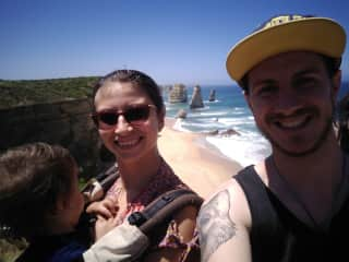 Travelling around Australia with my friend Maria and her son Archer