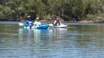 My friend and me kayaking at Currimundi
