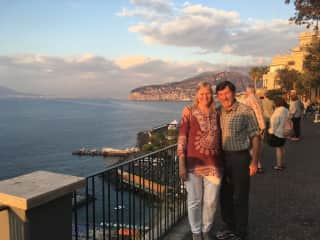 Dave and Elin on a recent trip to Italy