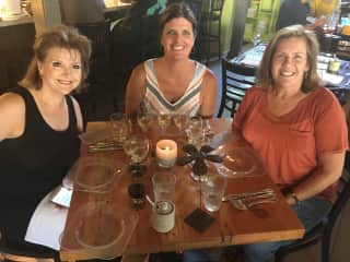 Gayle, me, and Mary- traveling partners and best of friends