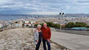 Paul & Sheila in Marseille, France.
