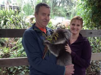 We were lucky to be able to visit with Lucy, a gentle koala who seemd to enjoy our company as much as we enjoyed our special visit with her!