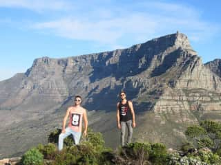 Victor and Fernando hiking in Cape Town, South Africa