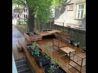 My private garden where you can enjoy the Estonian summer!