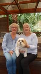 Myself, Robyn and Toby - Robyn's dog