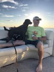 Kelly & Molly on the boat