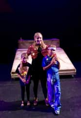 We love musicals! Here are 3 of us in a community theatre production of Jospeph and the Amazing Technicolor Dreamcoat.