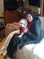 Lisa and Archie decked out for winter, Surrey BC