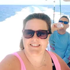 My brother and myself headed out on a fishing trip in the Gulf of Mexico. My family spends time together on the gulf coast every summer and going fishing with our dad is a favorite activity.
