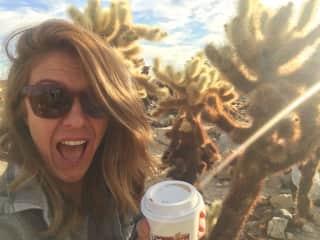 Coffee in Joshua Tree