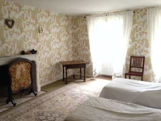 One of the upstairs guestrooms