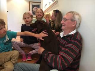 Boomer and grandchildren