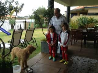 Ivan, his nephews and Luna (dog)